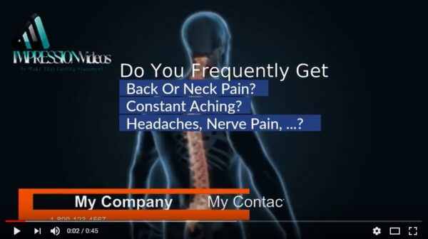 special process 3d animation chiropractic business video image
